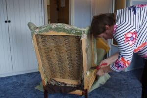 Alison fighting the staples